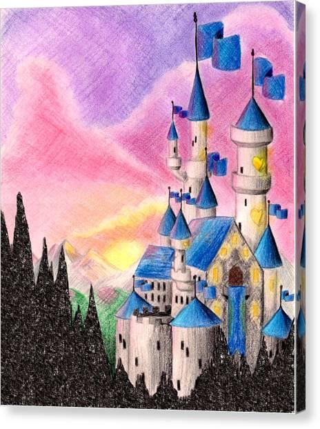 Sweet Heart Castle Canvas Print by Scarlett Royal