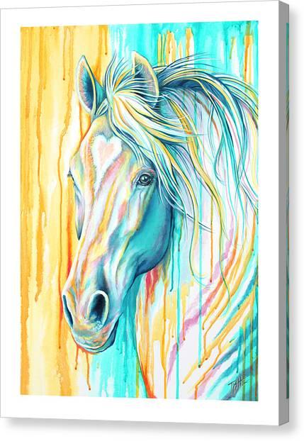 Sweet Heart Horse Canvas Print