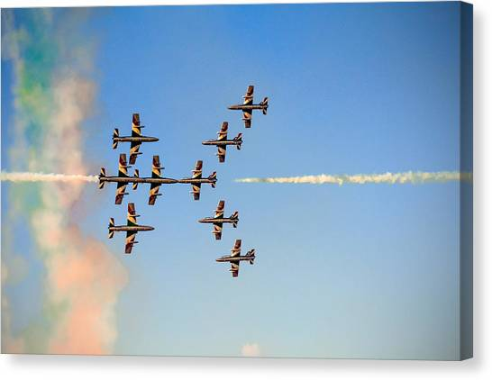 Pilots Canvas Print - Sweet Kisses by Gyula Szabo