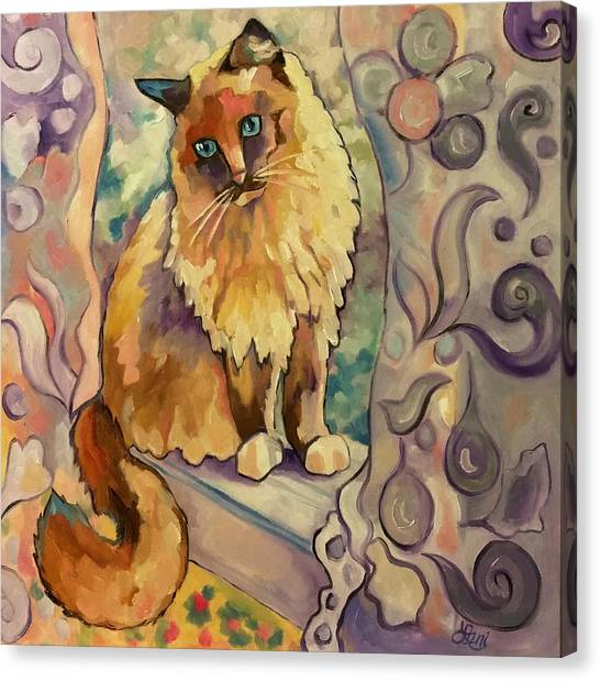 Himalayan Cats Canvas Print - Sweet Kitty by Leni Tarleton