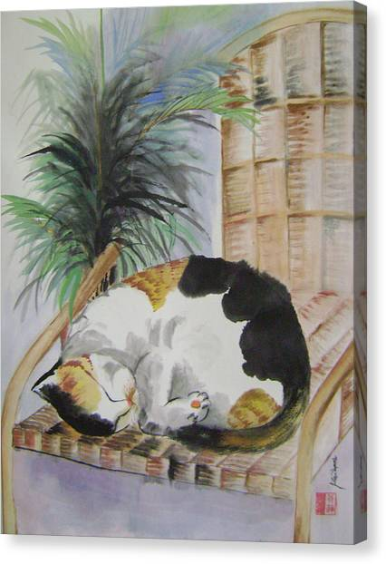 Sweet Nap Canvas Print by Lian Zhen