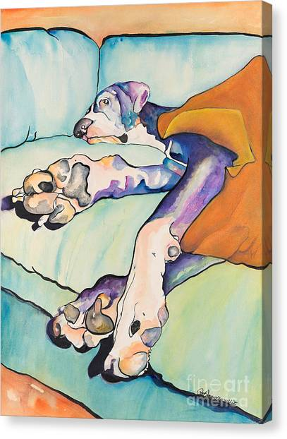 Great Danes Canvas Print - Sweet Sleep by Pat Saunders-White
