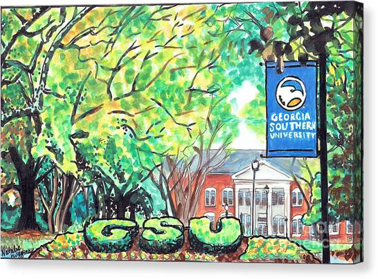 Sun Belt Canvas Print - Sweetheart Circle, Georgia Southern University by Natalie Huggins