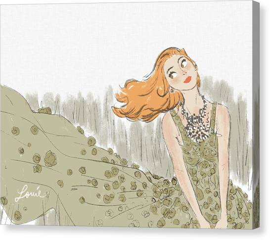 Fashion Canvas Print - Swept by Louie del Carmen