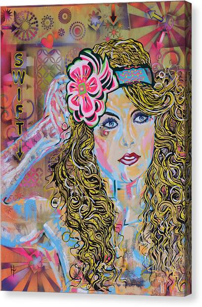 Taylor Swift Canvas Print - Swift by Heather Wilkerson