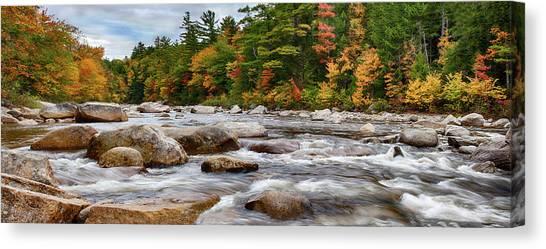 Swift River Runs Through Fall Colors Canvas Print