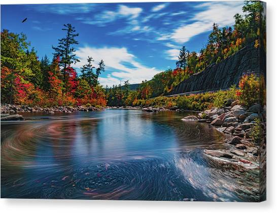 Canvas Print featuring the photograph Swift River Swirls by Chris Lord