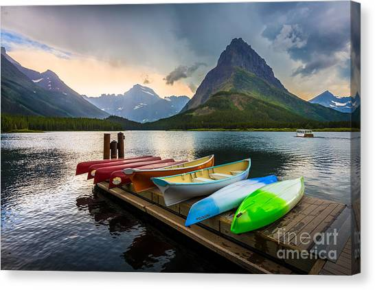 Kayaks Canvas Print - Swiftcurrent Canoes by Inge Johnsson