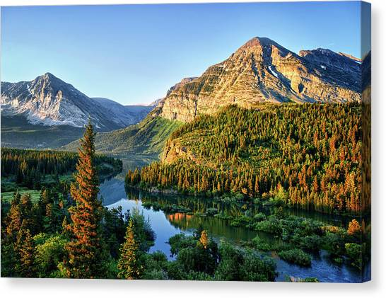 Swiftcurrent Morning Canvas Print