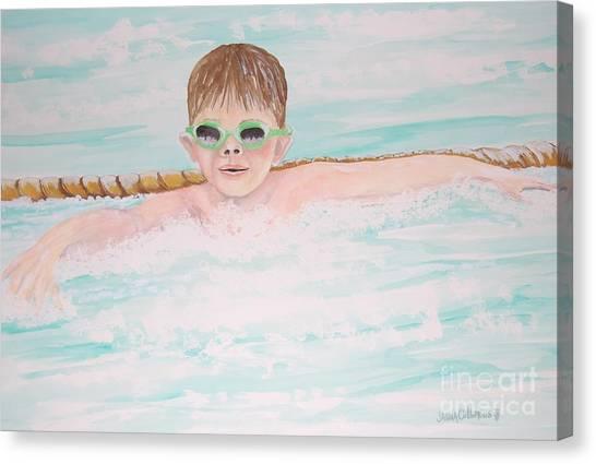 Swim Meet Canvas Print by Janna Columbus