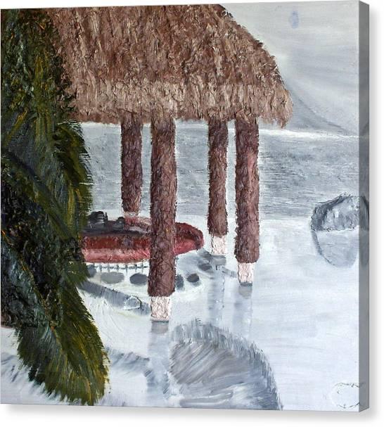 Swim To A Beach Bar Cool Huh Canvas Print