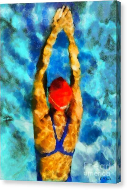 Swimmer Canvas Print