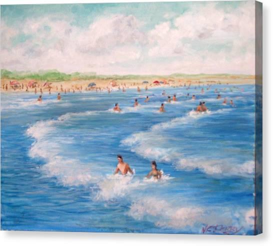 Second Beach, Newport Ri  Canvas Print