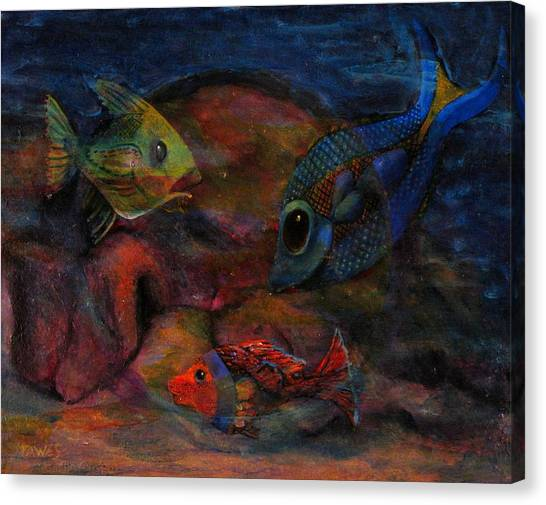 Swimming At The Rusty Heart Canvas Print