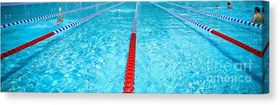 Swim Lane Canvas Print