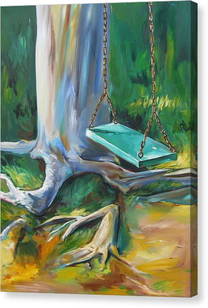 Swing Canvas Print by Karen Doyle