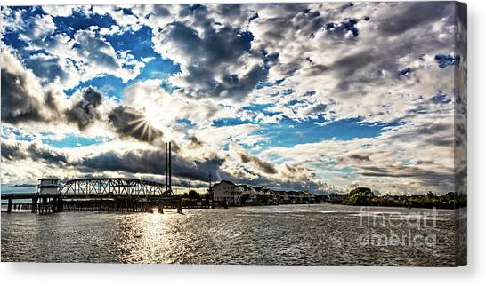 Swing Bridge Drama Canvas Print