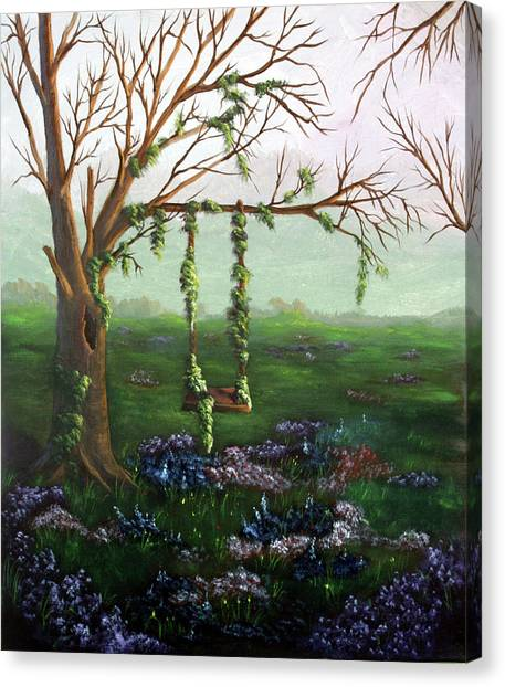 Swingin' With The Flowers Canvas Print
