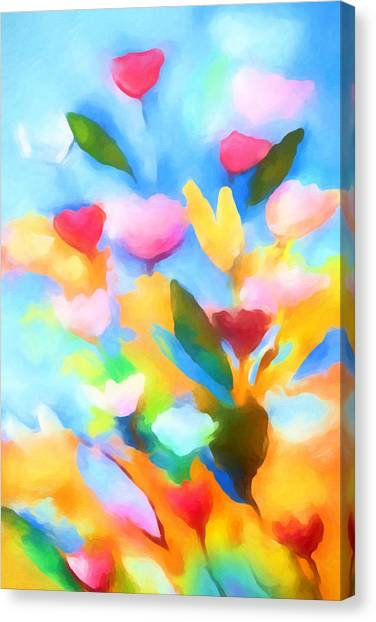 Swinging Flowers Canvas Print