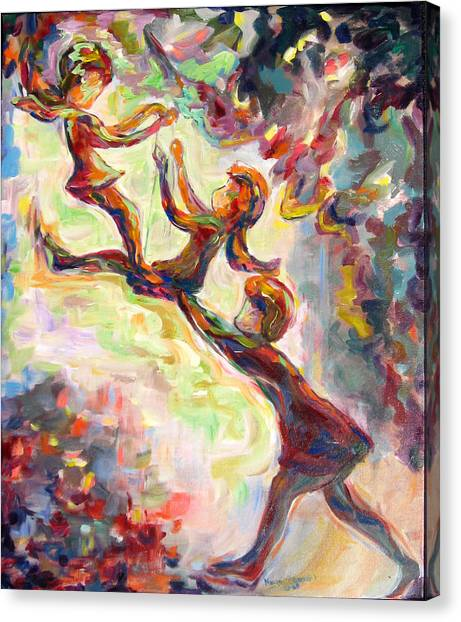Swinging High Canvas Print by Naomi Gerrard