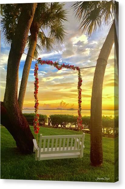 Swinging In Sunset Canvas Print