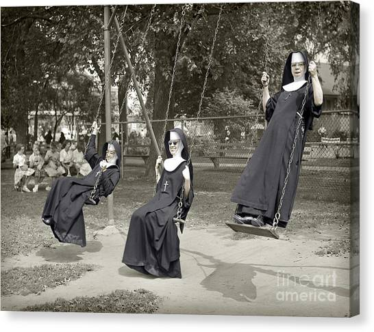 Swinging Nuns 1960 Canvas Print