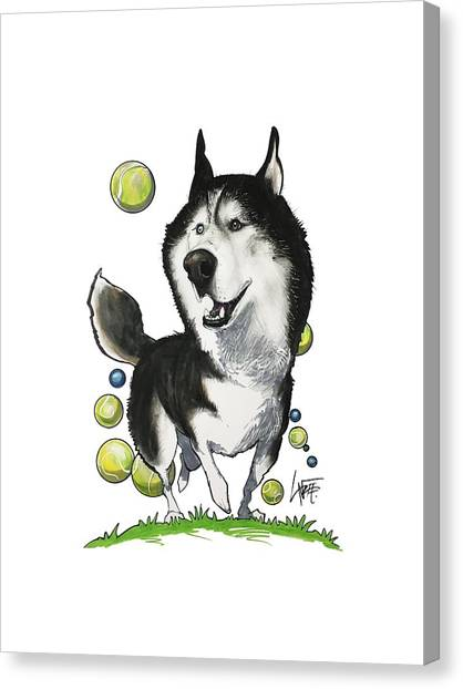 Huskies Canvas Print - Swinson 3650 by John LaFree