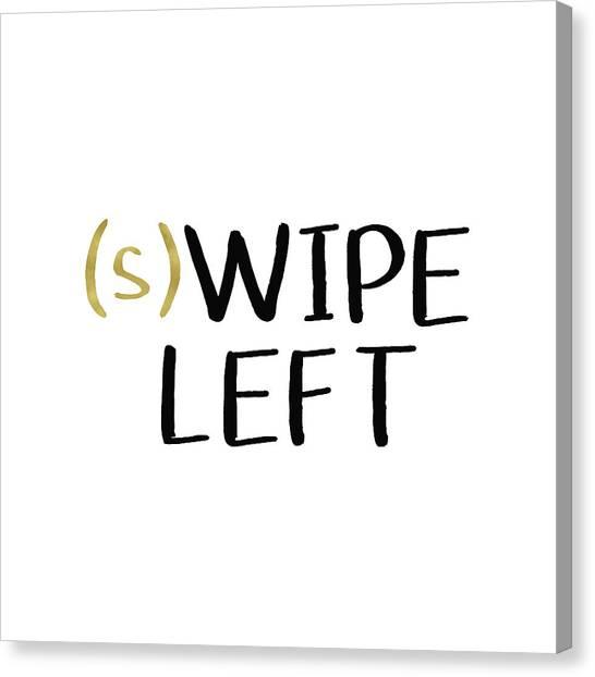 Social Canvas Print - Swipe Left- Art By Linda Woods by Linda Woods