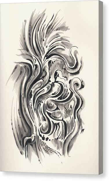 Canvas Print featuring the drawing Swirl by Keith A Link