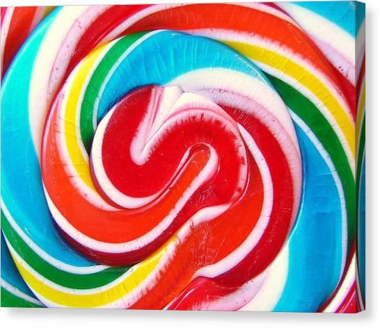 Swirl Of Happiness Canvas Print by Jennifer Lauren