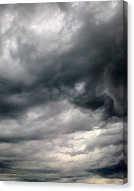 Swirling Clouds Canvas Print by Stephen Doughten