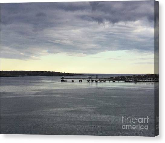 Swirling Currents On Casco Bay Canvas Print