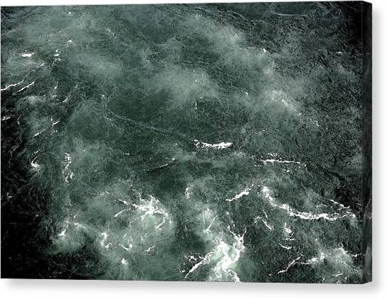 Swirling Water. Canvas Print by Robert Rodda