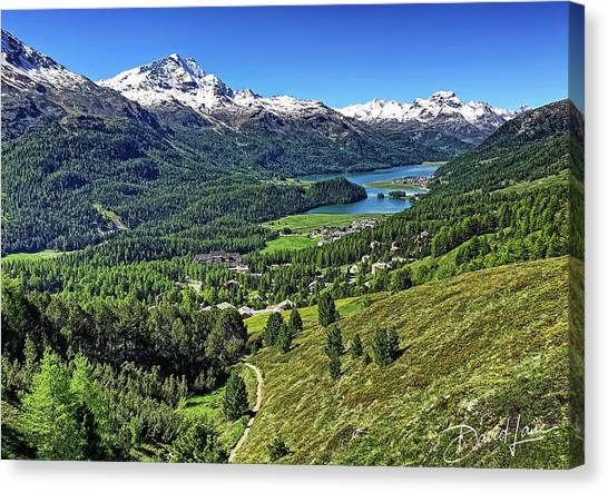 Swiss Alps And Lake Canvas Print