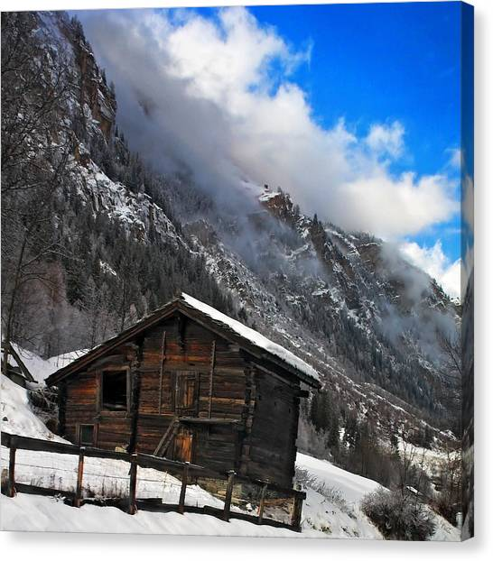 Swiss Barn Canvas Print
