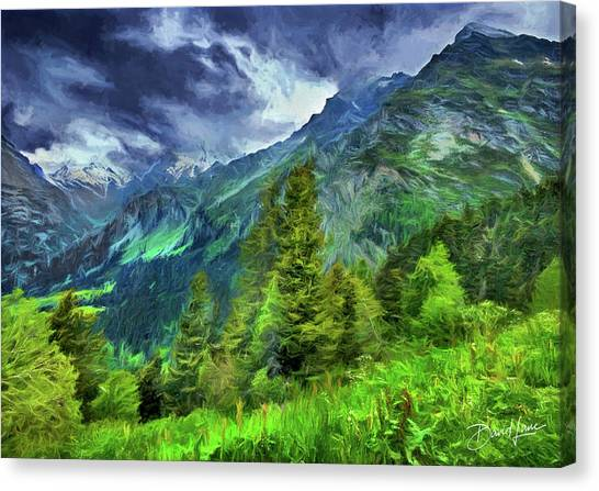 Swiss Countryside Canvas Print