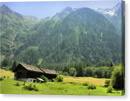 Swiss Mountain Home Canvas Print