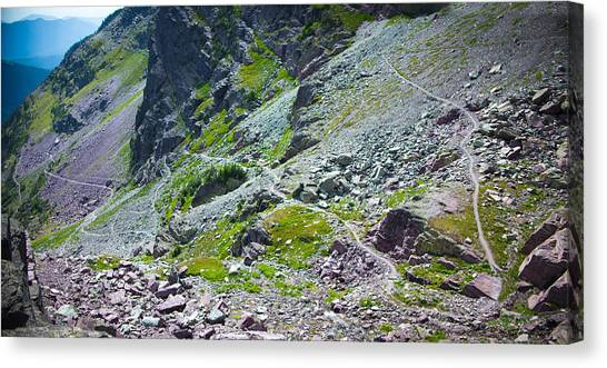 Switchbacks Below Comeau Pass Canvas Print