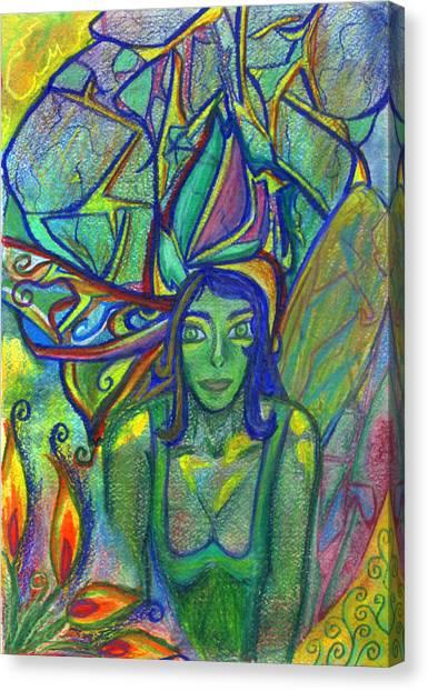 Woodland Canvas Print - Swoop by Sarah Crumpler