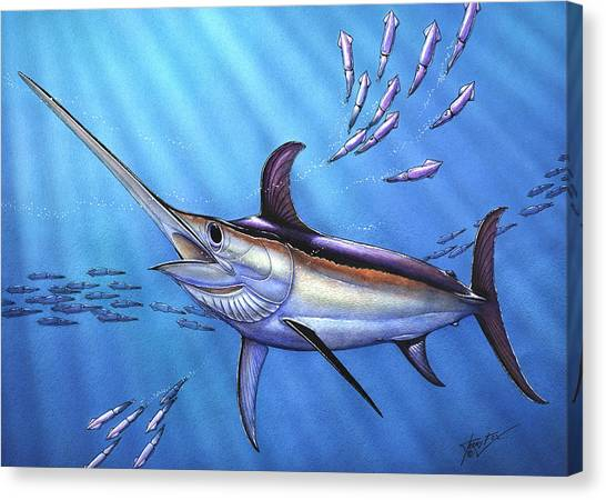 Swordfish In Freedom Canvas Print