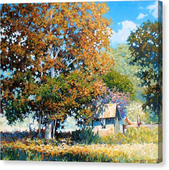 Sycamores With Tallow Canvas Print