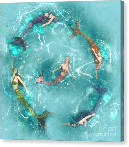Sychronized Swimming Canvas Print