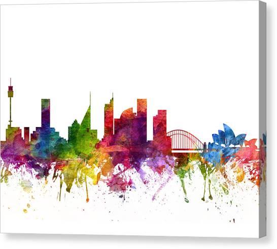 Sydney Skyline Canvas Print - Sydney Australia Cityscape 06 by Aged Pixel