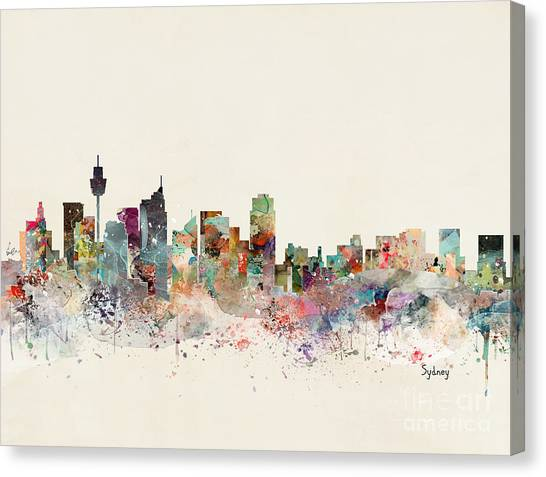 Sydney Skyline Canvas Print - Sydney Australia Skyline by Bri Buckley