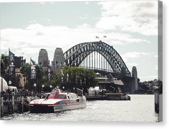 Koala Canvas Print - Sydney Bridge by Lie Gabrian Suryali