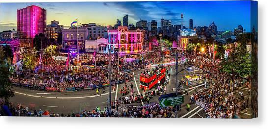 Sydney Skyline Canvas Print - Sydney Gay And Lesbian Mardi Gras Parade by Az Jackson