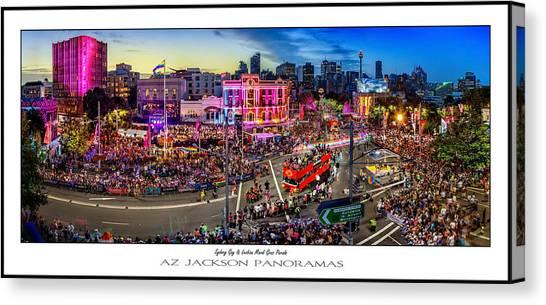 Oz Canvas Print - Sydney Gay And Lesbian Mardi Gras Parade Poster Print by Az Jackson