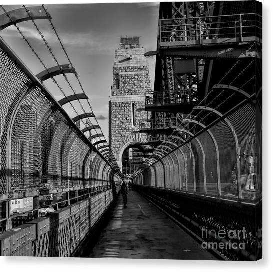 Sydney Harbor Bridge Bw Canvas Print