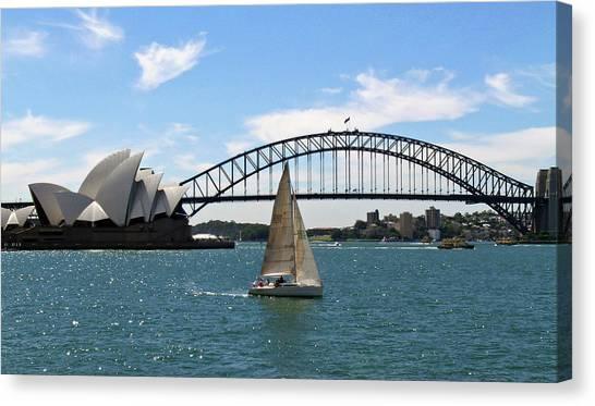 Architecture Canvas Print - Sydney Harbour No. 1 by Sandy Taylor