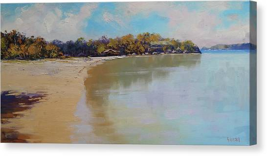 Beautiful Nature Canvas Print - Sydney Harbour Beach by Graham Gercken